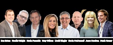 Photo of speaker Mark Homer, Anne Houlton, Kevin McDonnell,  David Siegler, Katy Wilson, Kevin Poneskis, Neville Wright,  Dan Eaton
