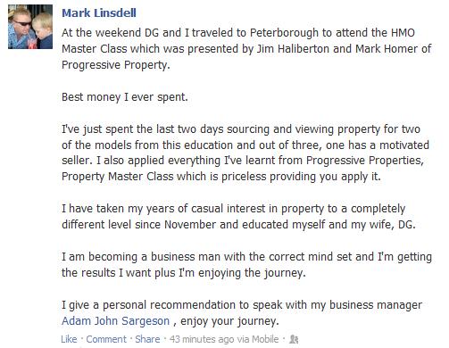 Progressive-property-mark-lindsell-testimonial